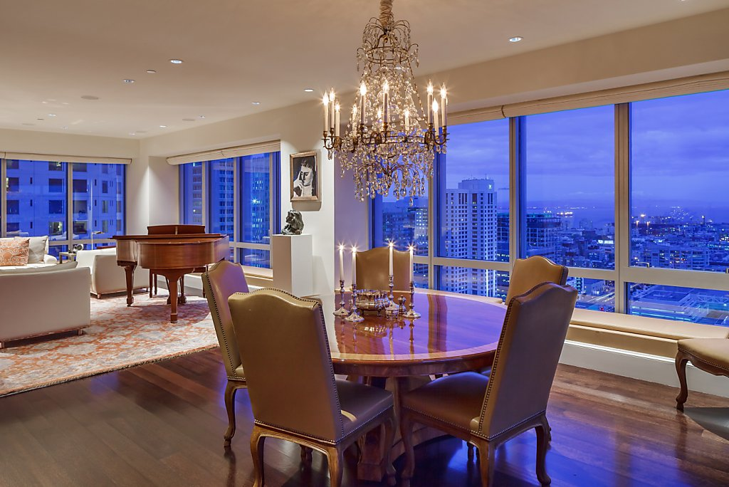 Luxury Apartments Condo Floor: SF High-rise Condo Has Spacious Floor Plan, City Views And