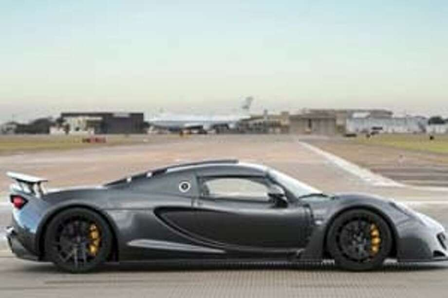 The Hennessey Venom GT set a Guinness World Record in January at Ellington Airport. (Houston Airport System)