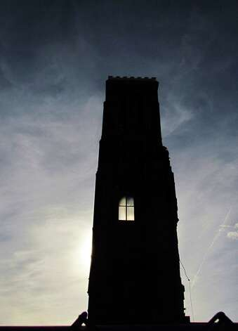 The silhouette of the bell tower on St. Patrick's Church in Watervliet are shown on Wednesday, May 8, 2013. (Courtesy Ron Schubin)