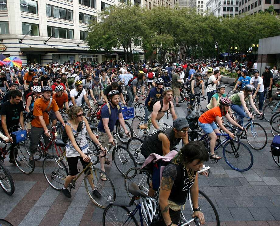 11. ... a bike rally. Photo: Kristine Paulsen, Seattle Post-Intelligencer