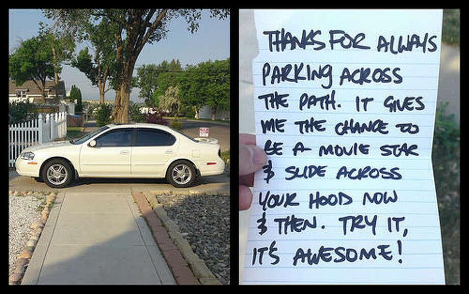 Location unknown, sentiment all too familiar. Photo via Passive Aggressive Notes. Photo: Http://www.passiveaggressivenotes.com/category/car/parking/