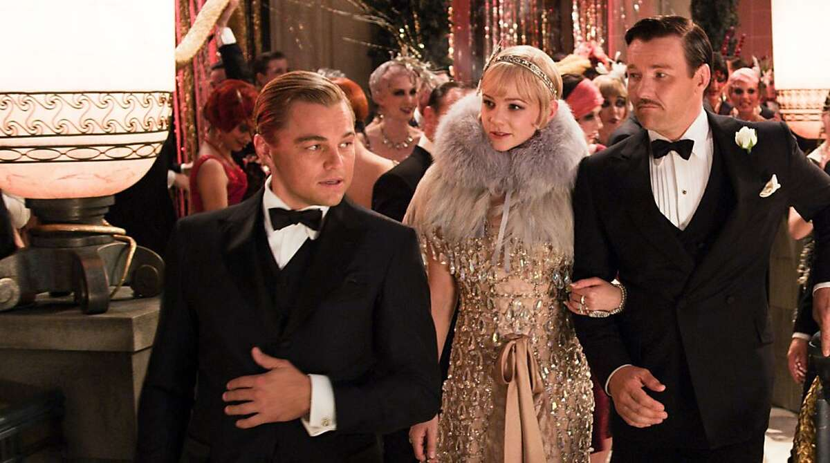 This undated publicity photo released by courtesy Warner Bros. Pictures shows, from left, Leonardo DiCaprio as Jay Gatsby, Carey Mulligan, as Daisy Buchanan and Joel Edgerton as Tom Buchanan in Warner Bros. Pictures and Village Roadshow Pictures drama,