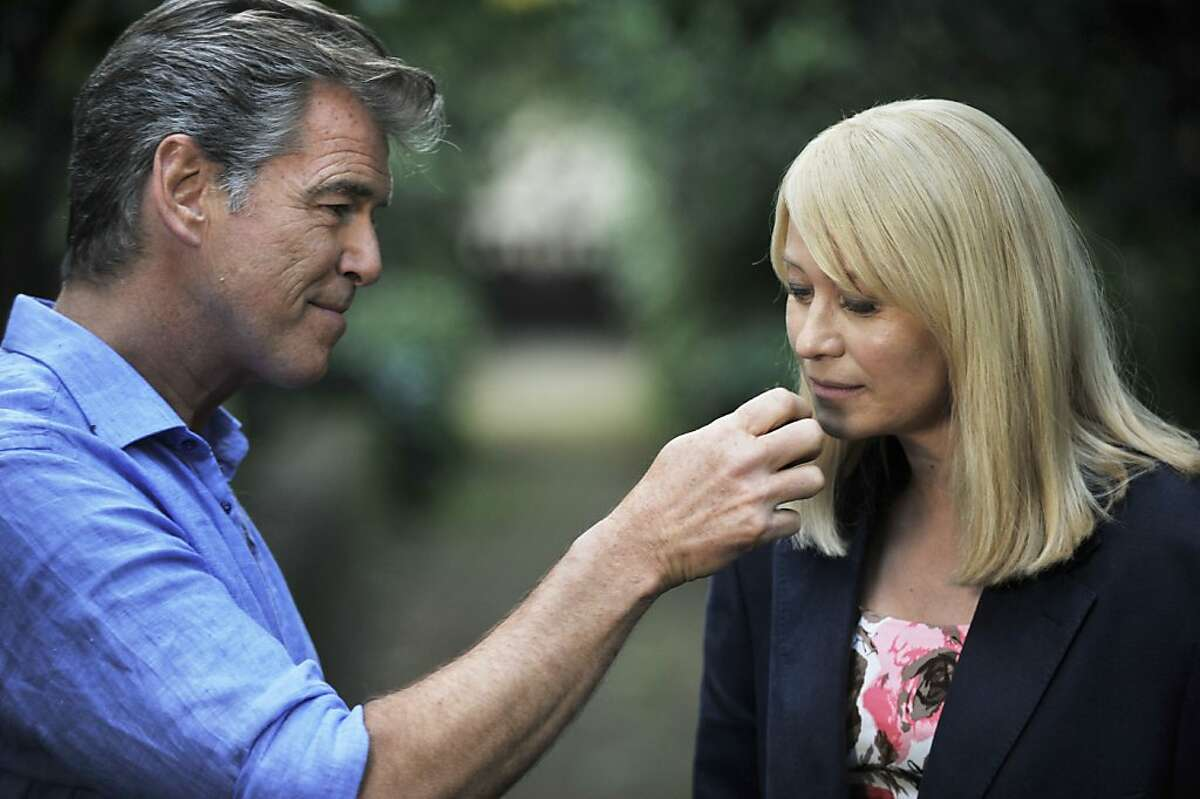 """Left to Right: Pierce Brosnan as Philip and Trine Dyrholm as Ida star in, """"Love is All You Need."""""""