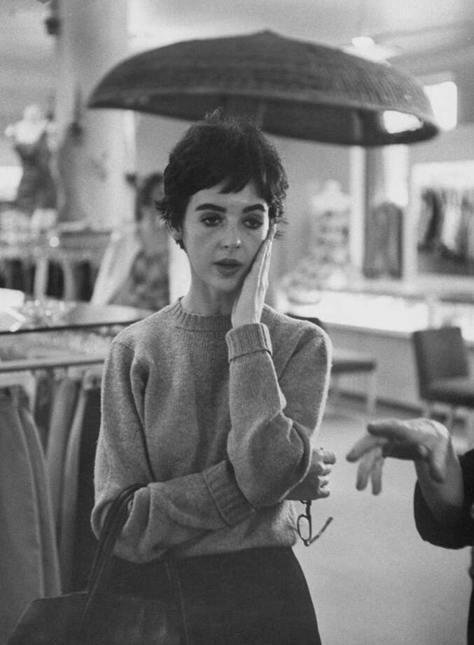 Actress Millie Perkins during her shopping trip for clothes.  (Photo by Allan Grant//Time Life Pictures/Getty Images)