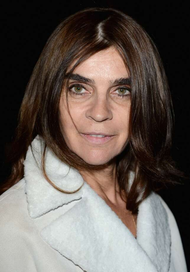 MILAN, ITALY - FEBRUARY 20:  Carine Roitfeld attends the Gucci fashion show as part of Milan Fashion Week Womenswear Fall/Winter 2013/14 on February 20, 2013 in Milan, Italy.  (Photo by Venturelli/Getty Images for Gucci)