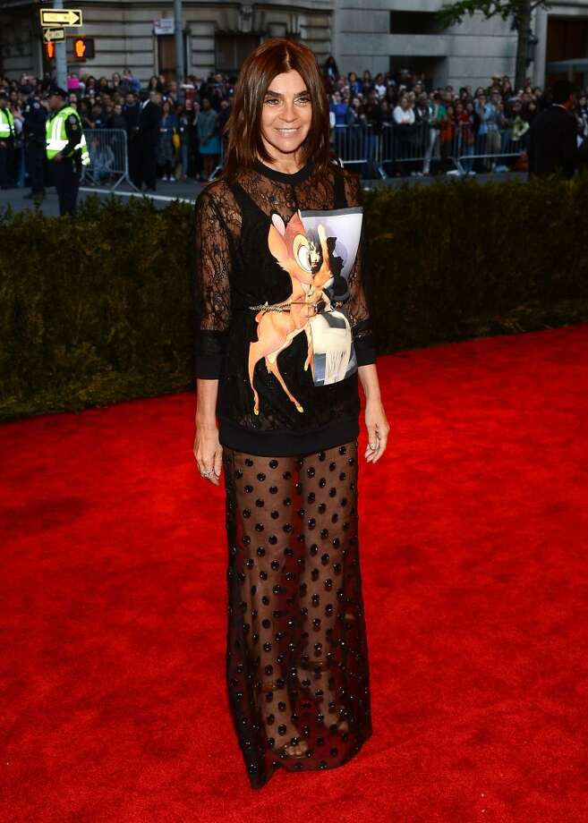 """NEW YORK, NY - MAY 06:  Carine Roitfeld attends the Costume Institute Gala for the """"PUNK: Chaos to Couture"""" exhibition at the Metropolitan Museum of Art on May 6, 2013 in New York City.  (Photo by Larry Busacca/Getty Images)"""