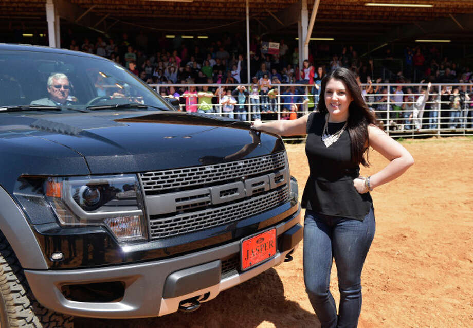 AMERICAN IDOL:  Kree Harrison in front of Ford Raptor at rodeo near Woodville, TX. CR: Michaek Becker / FOX. Photo: Michael Becker