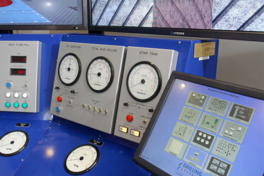 Detail of the Traditional Drilling Simulator at Diamond Offshore Drilling.
