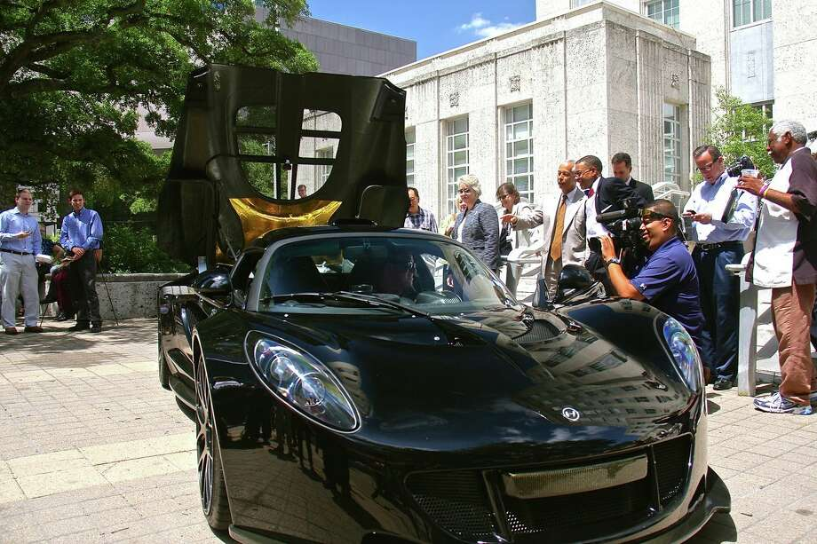 The Hennessey Venom GT, one of the fastest cars in the world, was on display this afternoon in the front of Houston City Hall. Photo: Courtesy Of Hennessey Performance