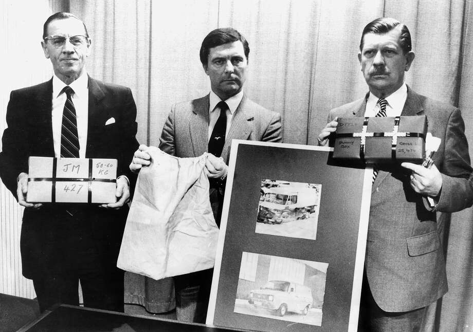 Brink's-MAT robbery, Heathrow (1983)Robbers with an inside connection took a warehouse at Heathrow Airport for $39 million in gold bullion, diamonds and cash. The loot was never recovered, though two men served prison sentences in connection with the heist. Photo: Daily Herald Archive, SSPL Via Getty Images / SSPL/NMeM/Daily Herald Archive