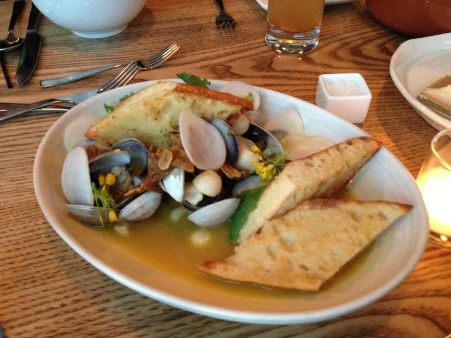 Clams in vadouvan broth with turnips