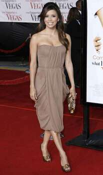 "Eva Longoria arrives for the premiere of ""What Happens in Vegas"" in Los Angeles on Thursday, May 1, 2008. Photo: Matt Sayles, AP / AP"