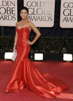 Actress Eva Longoria arrives at the 66th Annual Golden Globe Awards on Sunday, Jan. 11, 2009, in Beverly Hills, Calif. Photo: Chris Pizzello, AP / AP