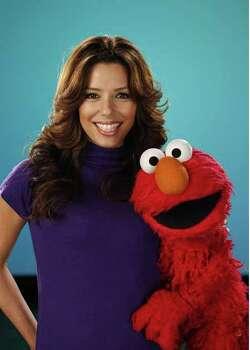 Eva Longoria pays a visit to  Sesame Street Photo: Sesame Workshop
