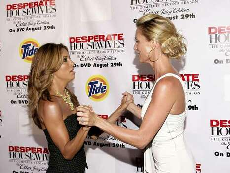 juliecooper LOS ANGELES, CA - AUGUST 05: Eva Longoria and Nicolette Sheridan attend the Desperate Housewives Season 2 Dvd Launch held on August 5, 2006 in Los Angeles, California. Photo: Mark Davis, Getty Images / 2006 Getty Images