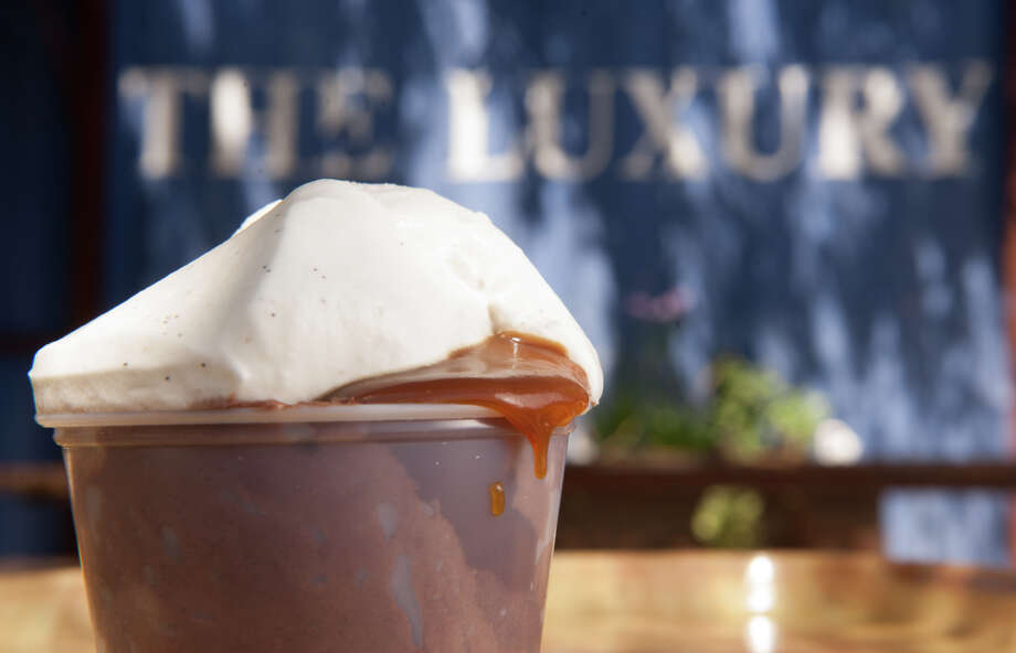 The Chocolate Salted Caramel Pudding from The Luxury. Photo: Robin Jerstad