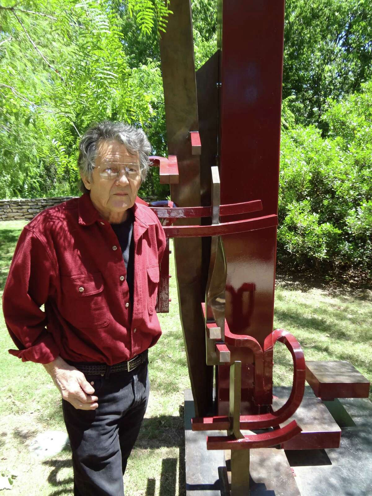 Houston sculptor Ben Woitena, 71, created