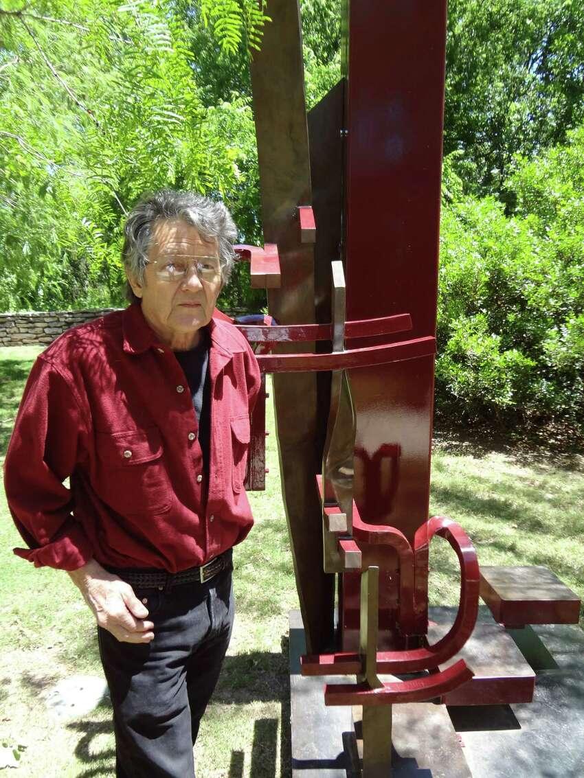 Houston sculptor Ben Woitena, 71, created