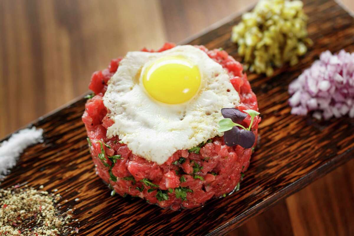 At Eleven XI the beef tartare is hand cut to order.