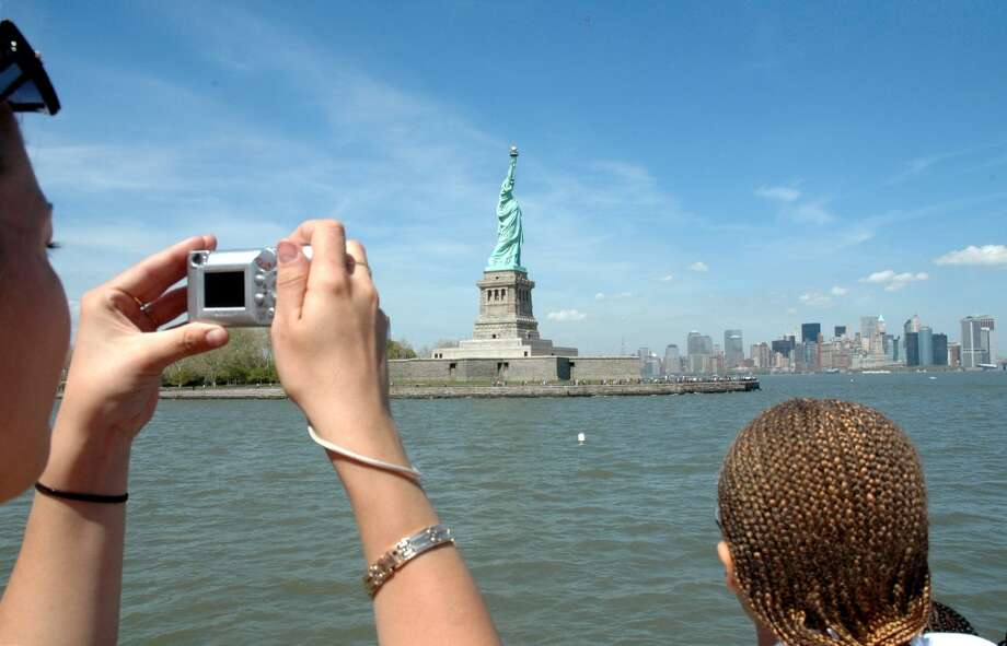 Making memories on a Statue of Liberty of tour