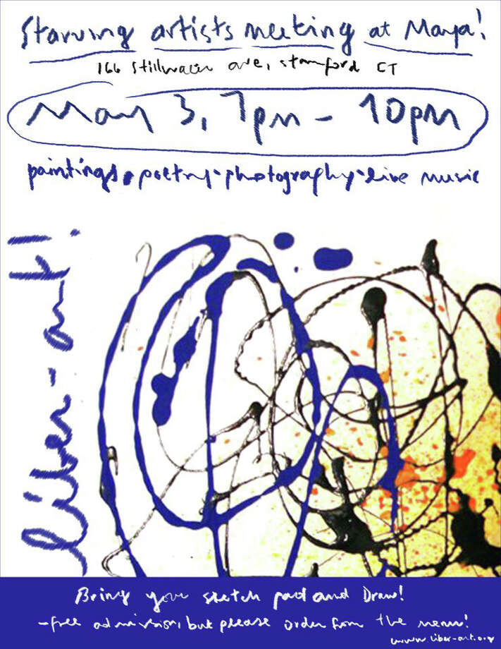 LIber-Art, a group of artists who hope to help fellow artists find greater exposure for their work and opportunities for display, hosted its first event in May 2012 at Maya restaurant in Stamford. Here is the invitation to that event. Photo: Contributed Photo