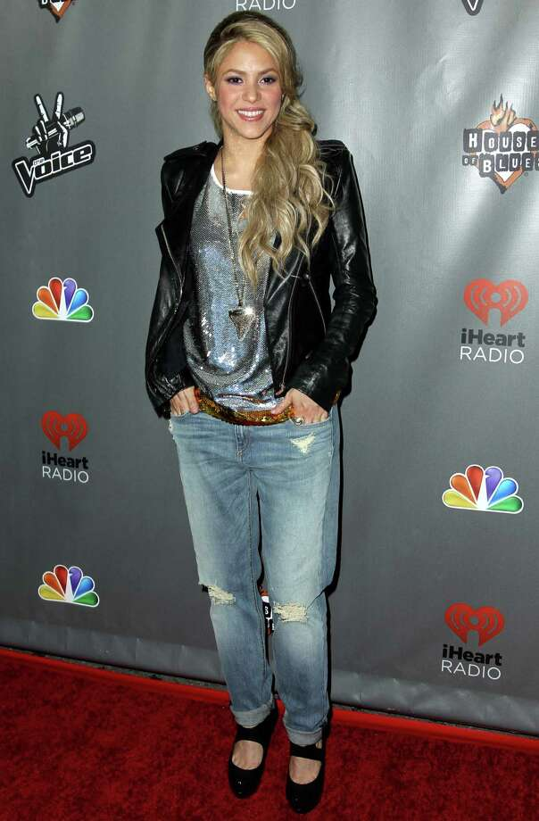 "Shakira arrives at ""The Voice"" season 4 red carpet event at the House of Blues on Wednesday, May 8, 2013 in Los Angeles. (Photo by Matt Sayles/Invision/AP) Photo: Matt Sayles"