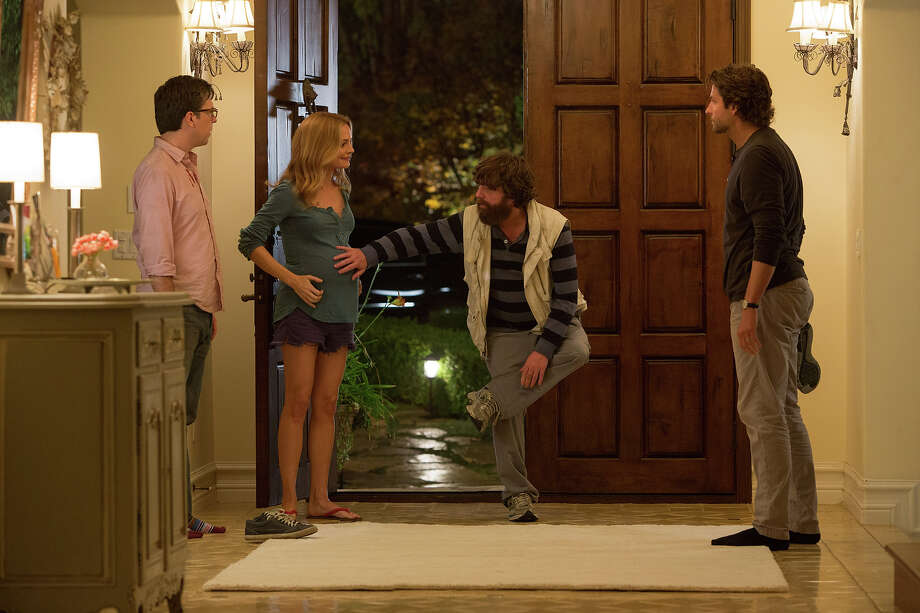 "Ed Helms as Stu, Heather Graham as Jade, Zach Galifianakis as Alan and Bradley Cooper as Phil in ""The Hangover III."" Photo: Melinda Sue Gordon, Warner Brothers / © 2013 WARNER BROS. ENTERTAINMENT INC. AND LEGENDARY PICTURES"