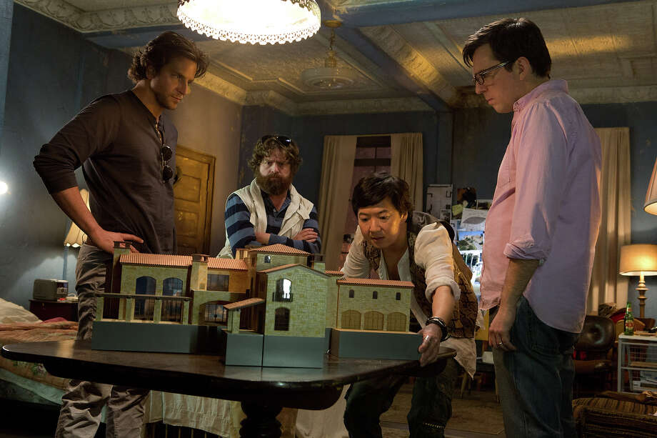 "Bradley Cooper as Phil, Zach Galifianakis as Alan, Ken Jeong as Mr. Chow and Ed Helms as Stu in ""The Hangover III."" Photo: Melinda Sue Gordon, Warner Brothers / © 2013 WARNER BROS. ENTERTAINMENT INC. AND LEGENDARY PICTURES"