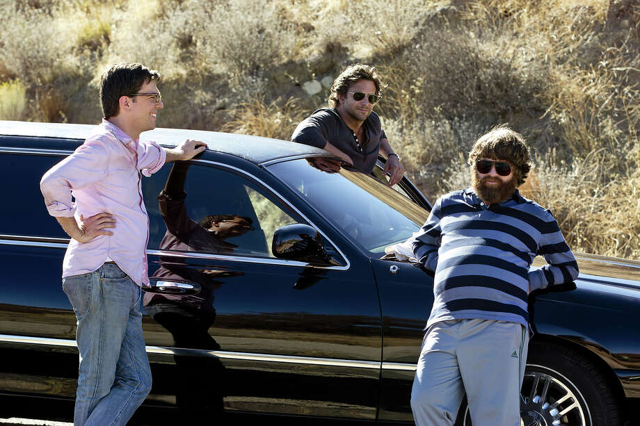 "(L-r) Ed Helms as Stu, Bradley Cooper as Phil and Zach Galifianakis as Alan in ""The Hangover III."" Photo: Melinda Sue Gordon, Warner Brothers / © 2013 WARNER BROS. ENTERTAINMENT INC. AND LEGENDARY PICTURES"