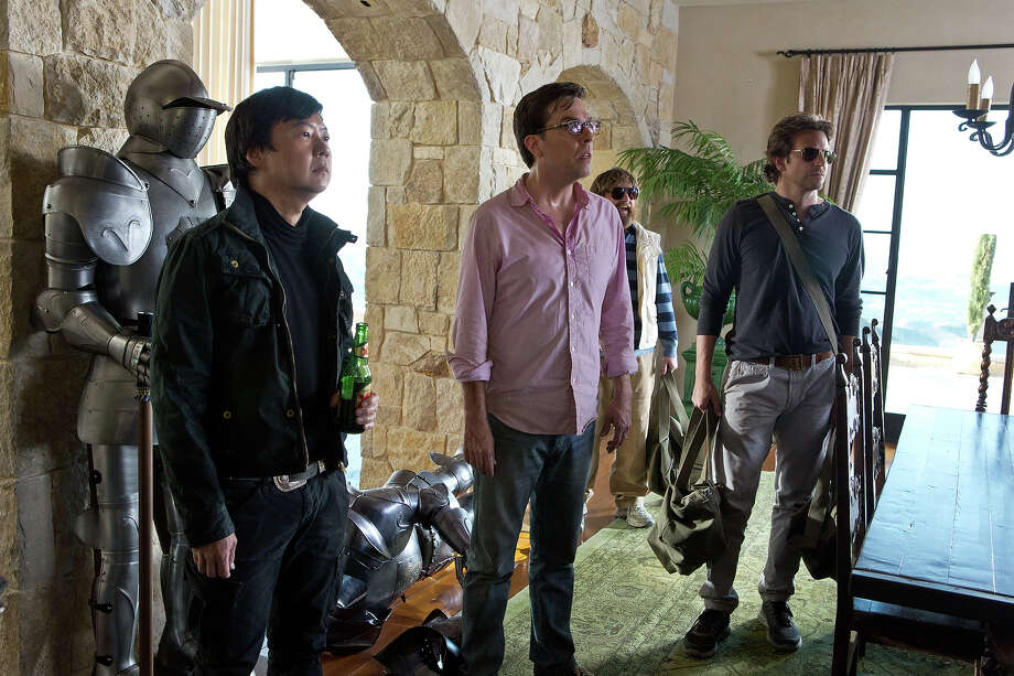 "Ken Jeong as Mr. Chow, Ed Helms as Stu, Zach Galifianakis as Alan and Bradley Cooper as Phil in ""The Hangover III."" Photo: Melinda Sue Gordon, Warner Brothers / © 2013 WARNER BROS. ENTERTAINMENT INC. AND LEGENDARY PICTURES"
