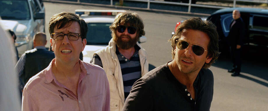 "L-r) Ed Helms as Stu, Zach Galifianakis as Alan, and Bradley Cooper as Phil in ""The Hangover III."" Photo: Courtesy Of Warner Bros. Picture, Warner Brothers / © 2013 WARNER BROS. ENTERTAINMENT INC. AND LEGENDARY PICTURES"