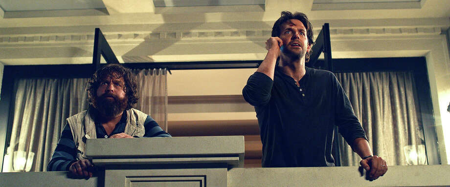 "Zach Galifianakis as Alan and Bradley Cooper as Phil in ""The Hangover III."" Photo: Courtesy Warner Bros. Pictures, Warner Brothers / © 2013 WARNER BROS. ENTERTAINMENT INC. AND LEGENDARY PICTURES"