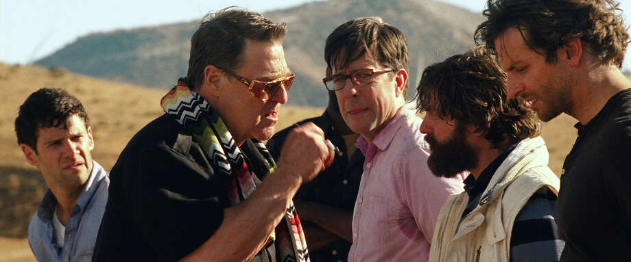"Justin Bartha as Doug, John Goodman as Marshall, Ed Helms as Stu, Zach Galifianakis as Alan and Bradley Cooper as Phil in ""The Hangover III."" Photo: Courtesy Warner Bros. Pictures, Warner Brothers / © 2013 WARNER BROS. ENTERTAINMENT INC. AND LEGENDARY PICTURES"