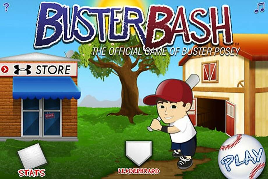 "Giants catcher Buster Posey is involved with ""Buster Bash,"" a popular home run derby mobile game. Photo: Itunes.apple.com"