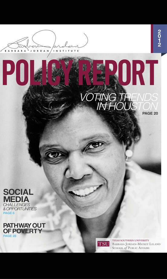 The Barbara Jordan Institute (BJI) is non-partisan and unbiased institution dedicated to research that focuses on finding solutions to the many public policy challenges facing urban communities. The BJI is housed in the School of Public Affairs, and The Policy Report is the official publication of the Institute.