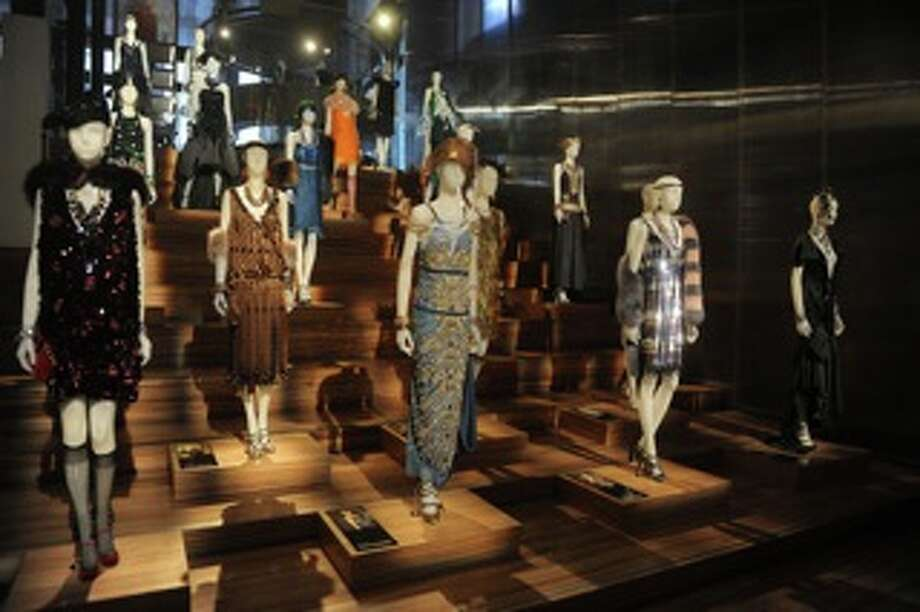 The Prada store in Soho displays some of looks re-created for 'The Great Gatsby' by Miuccia Prada.