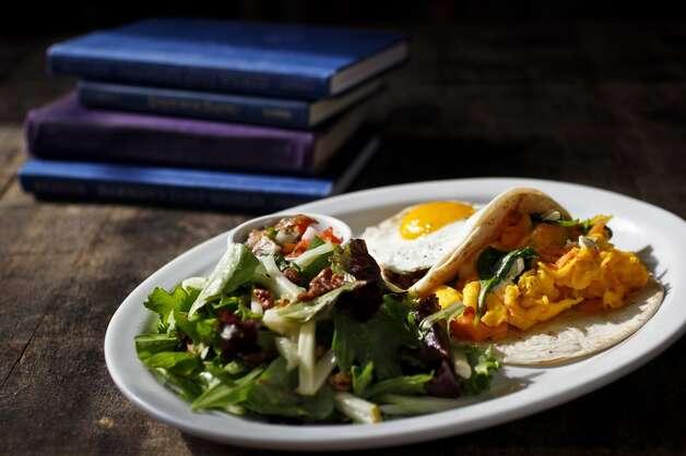 Treadsack Down HouseWhere: 1801 YalePhoto: Breakfast taco plate