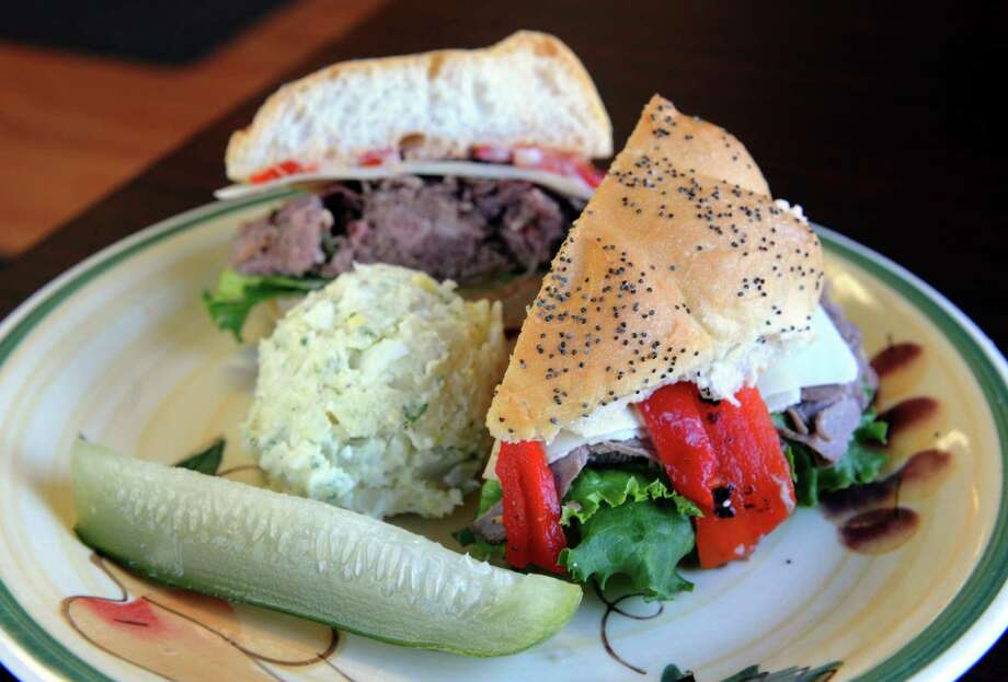 Diamond Deli Mill. 1540 Central Ave., Colonie.A oven roasted roast beef sandwich with Swiss cheese and roasted red peppers at Diamond Deli Order Up on Friday May 3, 2013 in Colonie, N.Y. (Michael P. Farrell/Times Union) Photo: Michael P. Farrell