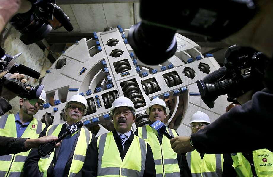 """""""When we look back, it will be well worth the effort,"""" Mayor Ed Lee said of the subway project. """"I think this is a great investment."""" Photo: Paul Chinn, The Chronicle"""