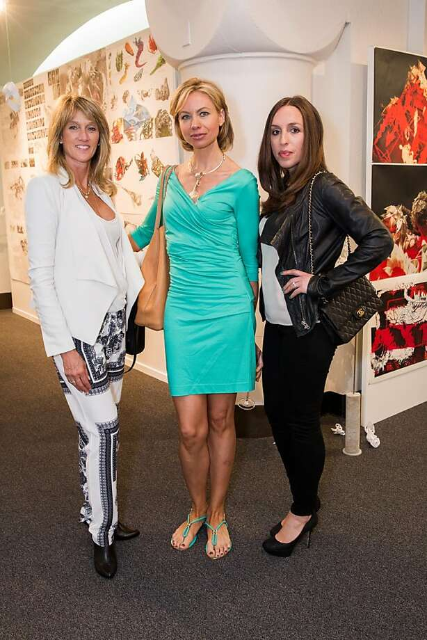 Marion Nataf, Natalia Rotaru and Julie Tabarovsky at the Academy of Art University's School of Fashion luncheon to honor Max Azria and Lubov Azria on May 08, 2013. The event, which is followed by the AAU Fashion Show on Thursday, May 09, took place at the Cannery in San Francisco.  Photo: Drew Altizer Photography