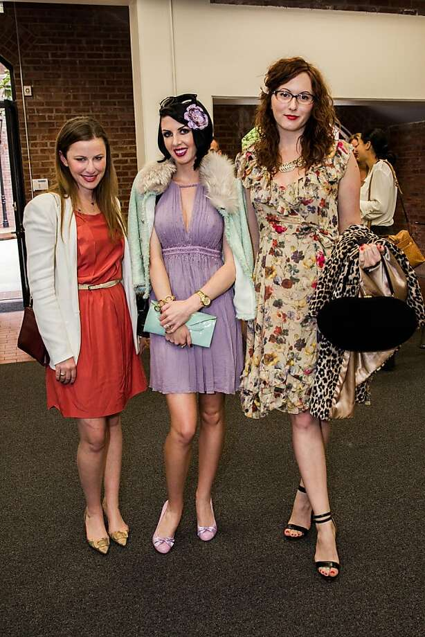 Laura Jones, Meghan Brock and Rebecca Gunthrie at the AAU fashion luncheon on May 08, 2013. Photo: Drew Altizer Photography