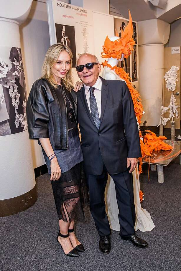 Guests of honor Lubov Azria and Max Azria at the AAU fashion luncheon on May 08, 2013. Photo: Drew Altizer Photography