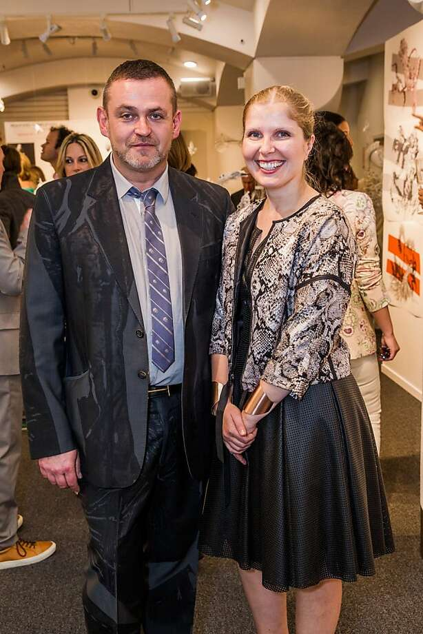 Simon Ungless and Monica Miller at the AAU fashion luncheon on May 08, 2013. Photo: Drew Altizer Photography