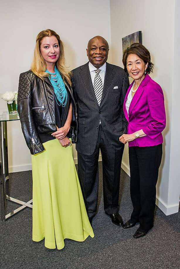Sonya Molodetskaya, Willie Brown and Jan Yanehiro at the AAU fashion luncheon on May 08, 2013. Photo: Drew Altizer Photography