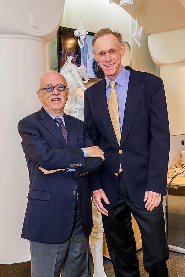 Wilkes Bashford and Tom Kelly at the AAU fashion luncheon on May 08, 2013. Photo: Drew Altizer Photography