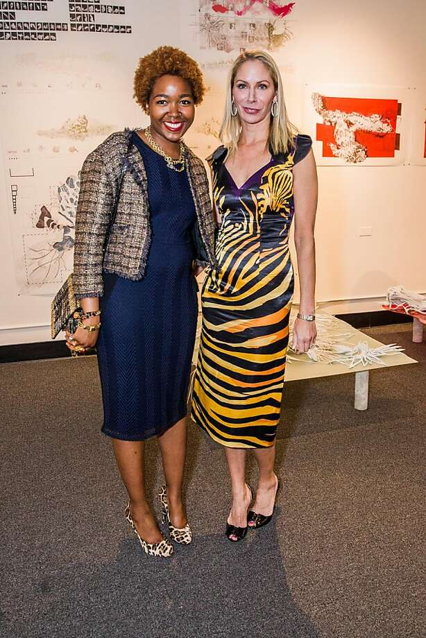 Adelle McElgeen and Angelique Griepp at the AAU fashion luncheon on May 08, 2013. Photo: Drew Altizer Photography