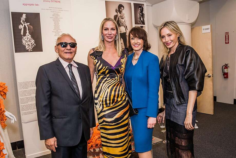 Max Azria, Angelique Griepp, Elisa Stephens and Lubov Azria at the AAU fashion luncheon on May 08, 2013. Photo: Drew Altizer Photography