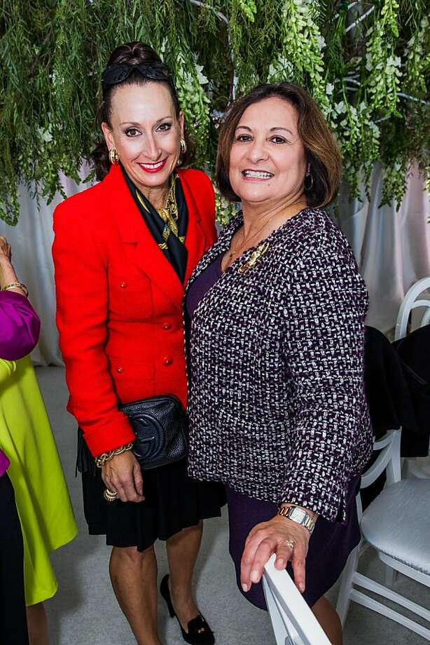 Toni Wolfson and Martha Weeck at the AAU fashion luncheon on May 08, 2013. Photo: Drew Altizer Photography