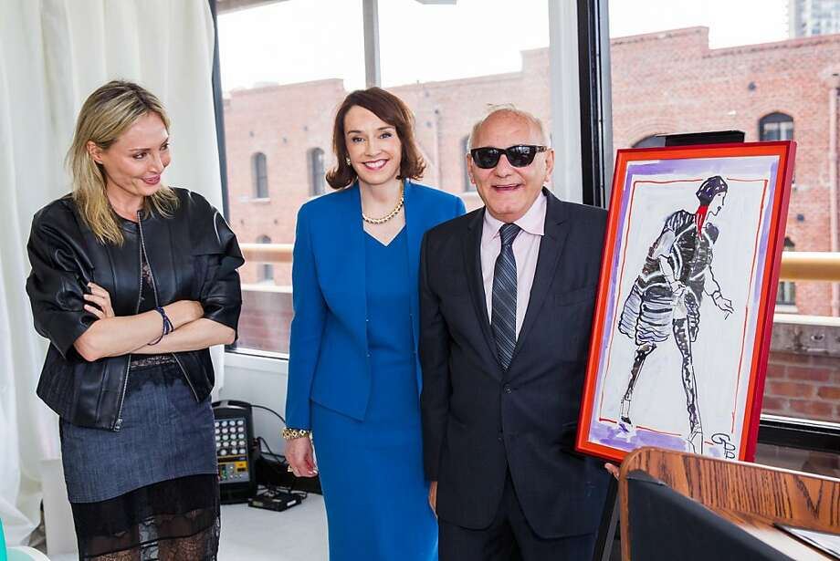 Lubov Azria, Elisa Stephens and Max Azria at the AAU fashion luncheon on May 08, 2013. Photo: Drew Altizer Photography
