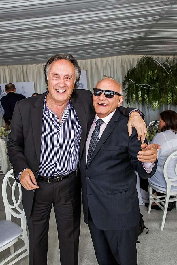 Jean Paul Nataf and Max Azria at the AAU fashion luncheon on May 08, 2013. Photo: Drew Altizer Photography